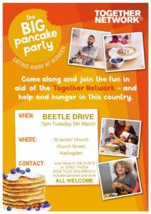 BEETLE DRIVE & BIG PANCAKE PARTY @ St James Church Hall | Haslingden | England | United Kingdom